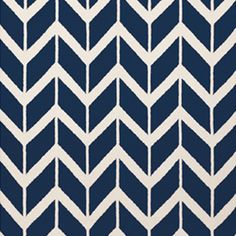 Chevron : Sapphire Blue - flat weave wool - can be custom color