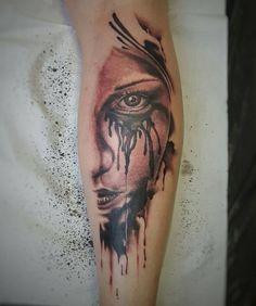 Michael Koschel @michaelkoschelart Herten Germany #tattwho #tattoo #tattooartist #ink #tattoos #tattooer #tattooist #tatuador #tatuadora #tatouer #tatuerare #face #woman #eye #crying #realism #realistic #blackandgray #blackandgrey #bng #herten #germany #portrait