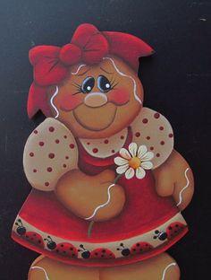 HP Gingerbread Girl Hand Painted Fridge Magnet