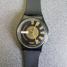 1990-1991 Standard Swatch Watch Broadcast GB720, Black Belt Swatch with date included!   Tags : swatch watches women, vintage swatch watches, 80's swatch watches, swatch watches silver, swatch watches 2016, mens swatch watches, swatch watches irony, swatch watches chrono, swatch watches automatic, black swatch watches, swatch watches scuba, swatch watches classic, swatch watches for men, swatch watches retro, swatch watches orange,