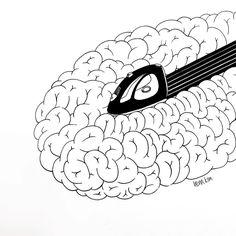 forget it / 잊어버려요 . . . #brain #iron #behappy #다리미 #뇌