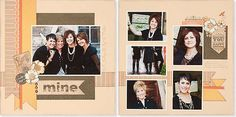 Sisters and friends #scrapbook layout #CTMH