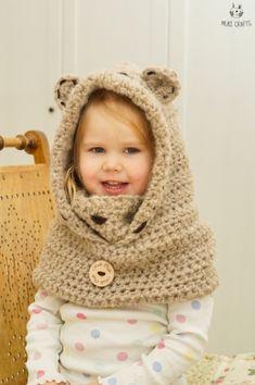 Bear Hooded Cowl Jacob Crochet Pattern