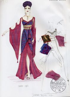 Serenifly Costumes: Inaras Purple and Red Dress