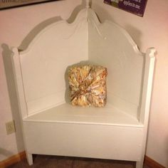 Repurposed+BenchThE+CanDicE+by+ThELocKe+on+Etsy,+$200.00 Antique Bench, Vintage Bench, Wedding Bench, Corner Bench, Bench Decor, Cottage Chic, Repurposed, Night Stand, Shabby Chic