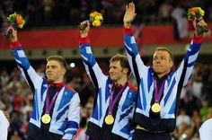 Sir Chris Hoy, Jason Kenny and Philip Hindes have won gold in the men's team sprint - Team GB's fifth of the London Olympics. Sir Chris Hoy, Olympic Cyclists, Rio Olympic Games, 2012 Summer Olympics, Team Gb, Olympic Champion, British Men, Role Models