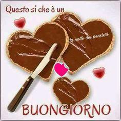 Italian Greetings, Italian Memes, Good Morning Good Night, Nutella, Den, Italy, Facebook, Healthy, Google