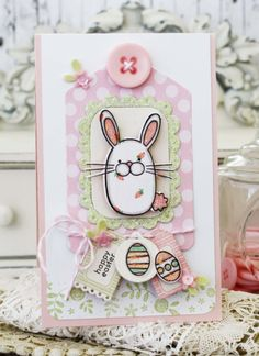 Adorable tiny Easter Tags by Melissa Phillips