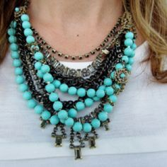Pictures just don't do it justice...my favorite statement necklace. The Marchesa. $178 http://www.stelladot.com/sites/AnnaFranck