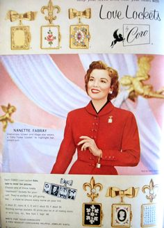 Vintage Coro Ad for Love Lockets