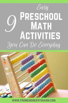 9 Easy Preschool Math Activities | Fun Math Activities for Preschoolers