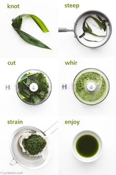 pandan (screw pine leaf-buy it at the frozen section at any Asian market store) juice recipe-to use as flavoring in any recipe that calls for it