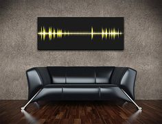 "Epic Frequency Wall Art    They're visual renderings derived from the waveforms of iconic audio recordings. Neil Armstrong's ""One small step"", JFK's ""Ask not …"", MLK's ""I have a dream"" speech, etc."