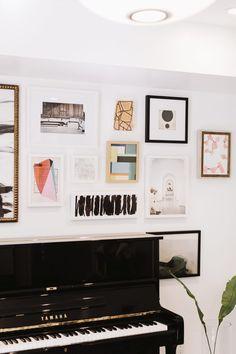 Damsel in Dior Piano Room + Gallery Wall