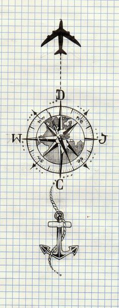 ideas for tattoo compass plane The post ideas for tattoo compass plane & Tattoo schwarz-weiß appeared first on Tattoos . Map Tattoos, Foot Tattoos, Body Art Tattoos, Sleeve Tattoos, Space Tattoo Sleeve, Compass Drawing, Compass Tattoo Design, Tattoo Sketches, Tattoo Drawings
