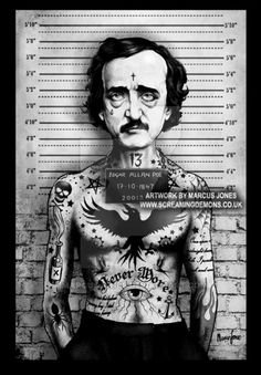 "Edgar Allan Poe Mugshot. by MarcusJones /  ""Mugshots"" by MarcusJones on DeviantArt (Marcus Jones, United Kingdom)"