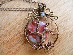 Tree of Life Pendant Red Brecciated Jasper and by OurFrontYard, $33.77