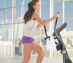 30 Workouts / 30 Minutes: The Elliptical Run. Slim down while sparing your joints with the elliptical. Tackle the quickie 30-minute workout when you're raring to go. Keep your strides per minute above 160 on the tough intervals to maximize fat burn. Set the cross ramp to 10. #SelfMagazine