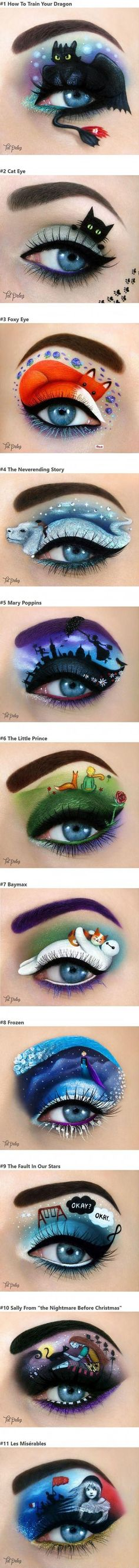 Artist Uses Her Eyes To Create Amazing Fairy Tale Art (maquillaje halloween gata) Eye Makeup Art, Cat Makeup, Eye Art, Beauty Makeup, Make Up Art, Eye Make Up, Disney Makeup, Fairytale Art, Makeup Designs
