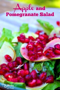 This apple and pomegranate salad is light, refreshing, and easy to make. It's a lovely alternative to your typical salad that the whole family will love.