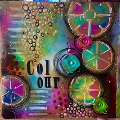 a sprinkle of imagination: 'Colour' Art Journal Page by Tracy Scott. Tutorial on their page.
