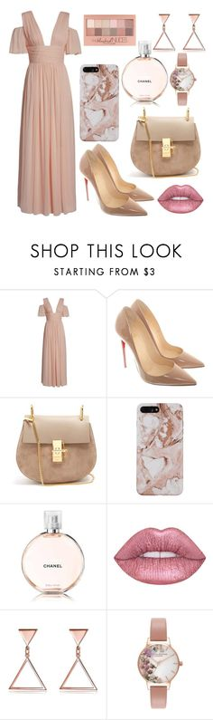 """Everyday outfit for Nadja"" by sonjarajajee on Polyvore featuring French Connection, Christian Louboutin, Chloé, Chanel, Maybelline, Lime Crime and Olivia Burton"