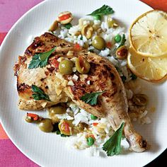 Healthy Chicken with Lemon and Olives | CookingLight.com