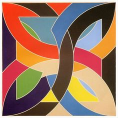 Fine art by Frank Stella that could work perfectly in a child's space