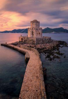 Methoni castle . Pelopponese . Greece