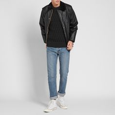S.N.S. Herning have a rich heritage in producing some of the finest knitwear around, basing their knowledge on close to a century of supplying Scandinavian fisherman with essential, warming knits. This satisfyingly chunky crew is constructed from a unique lattice textured virgin wool knit in Denmark and is finished with a ribbed collar, cuffs and hem.  100% Virgin Wool Unique Lattice Texture Knit Ribbed Collar, Cuffs and Hem Knitted In Denmark