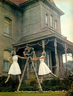 So vintage and cute. The house is awesome and creepy at the same time! I love it.
