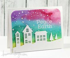 Christmas card (village die) by Kristina