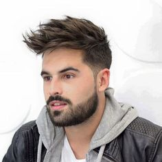This pin was discovered by daniel arenas. Mohawk Hairstyles Men, Mens Hairstyles 2018, Cool Hairstyles For Men, Haircuts For Men, Medium Beard Styles, Hair And Beard Styles, Short Hair Styles, Stylish Haircuts, Latest Haircuts