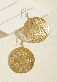 Giddy for Geometry Earrings | ModCloth
