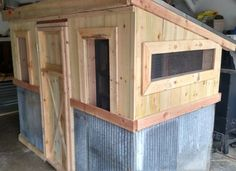The Vintage Chicken Coop – constructed from new or recycled or new materials - is perfect for raising a few backyard chickens anywhere – whether it be in the city, suburbia – or out in the middle of the wide open countryside. The coop is 8' Wide x 4' Deep, and measures 6' High at the front, sloping to 5' high in the rear of the coop. The measurements and materials list can easily be modified to create a coop smaller or larger simply by increasing or decreasing the listed lengths and widths…