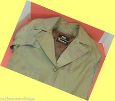 London Fog Faux Silk Trenchcoat Overcoat~Womens's Petite Size 6~PlusThinsulate