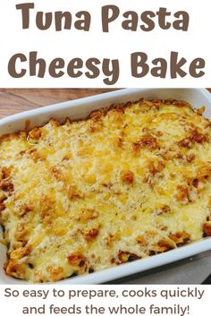 Tuna Pasta Cheesy Bake - The Reading Residence. An easy recipe for a simple family meal. A delicious past bake for all the family Baked Pasta Recipes, Tuna Recipes, Seafood Recipes, Cooking Recipes, Noodle Recipes, Yummy Recipes, Healthy Recipes, Tuna Bake, Easy Tuna Pasta Bake
