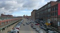 Old warehouses in the Strip District. Lots of shopping, markets, music