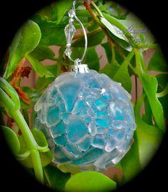 Sea Glass Christmas Ornament - Hawaiian Christmas Decor
