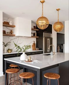 Kitchen Room Design, Home Decor Kitchen, Interior Design Kitchen, New Kitchen, Home Kitchens, Kitchen Ideas, Glenview House, Cuisines Design, Beautiful Kitchens