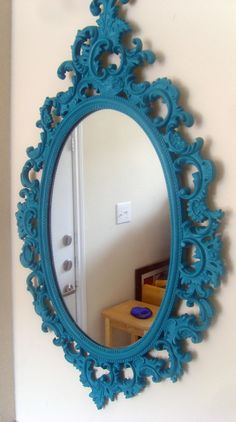 painted mirror - love the color.