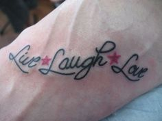 live-laugh-love.... Hearts instead of stars