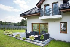 Projekt domu Dom w sansewieriach Realizacje - ARCHON+ Barndominium Plans, Living Styles, Pool Houses, House Painting, Garden Projects, Home Remodeling, My House, Sweet Home, Exterior