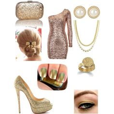 """""""Gold!"""" by kayles00 on Polyvore"""
