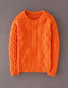 The sweater I want for fall Orange Cable Sweater from Bodenusa
