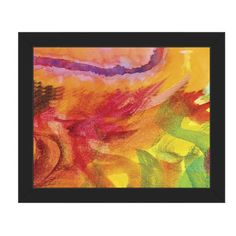 "Click Wall Art 'Lumaca' Framed Print of Painting  Frame Color: Black, Size: 13.5"" H x 16.5"" W x 1"" D"