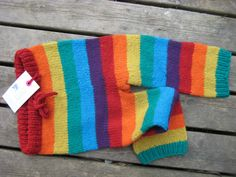 Rainbow Wool Longies  Ready to ship by sheepishlychic on Etsy, $44.00