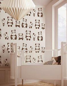 little hands: Little Hands Wallpaper Mural - Pandas