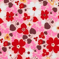 Tissu popeline grandes fleurs rose fluo - Tissus imprimés - MODE Mondial Tissus