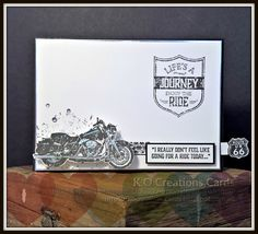KOCreations Stampin' Up! Blog: One Wild Ride - Motorcycle Card - #GDP091